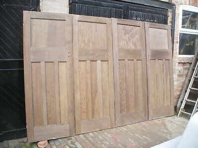 Reclaimed 1930s 1 over 3 panel stripped pine doors.(7 available)