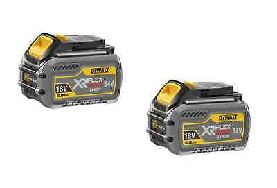 Dewalt  Dcb546-Xj 18V/54V Xr Flexvolt 6.0Ah Li-Ion Battery Pack Twin (2)