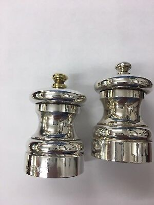 Pair Of Silver Hallmarked Salt And Pepper Grinders