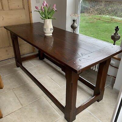 Stunning Oak Refectory Table Farmhouse Country Stylish Vintage