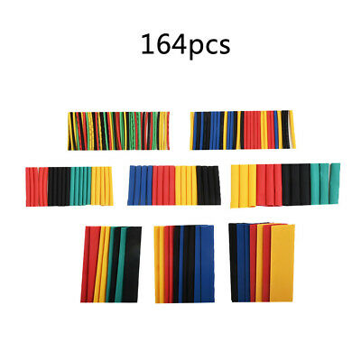 164cs Heat Shrink Wire Cable Tubing Tube Sleeve Wrap Shrinkage Mixed Colors UK