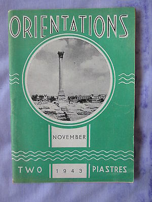 1943 Orientations Cairo Royal Sussex Regt. Social Work Indian Soldier Poetry