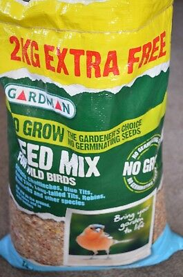 Gardman No Mess Wild Bird Feed Seed Mix - 12.75kg + 2kg Free * COLLECTION ONLY *