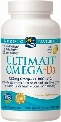 (120g, 45,22 EUR/100g) Nordic Naturals Ultimate Omega-D3, Lemon - 120 solfgels