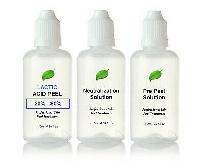 Lactic Acid AHA Skin Peel - Acne Treatment - 30ml Kit BUY 2 GET 3