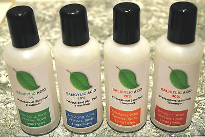 4x 100ml Salicylic Acid Skin Peel BHA - Acne Treatment – 400ml bumper pack