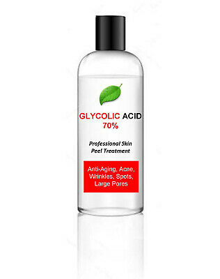 100ml Glycolic Acid AHA Skin Peel 70% - Acne Treatment – 100ml bumper pack