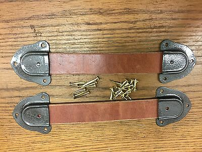Antique Trunk Hardware-Leather Handles,Ends and Nails for Trunks & Chests-New--U