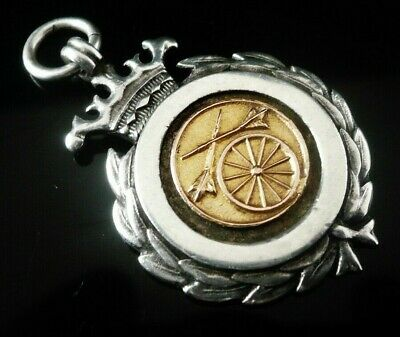 Silver Gold Pocket Watch Fob Medal, FATTORINI, Harvey Cup 1935