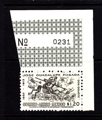 Mexico Airmail C 278 with  sheet serial #  MNH vf