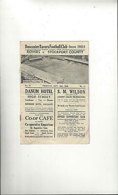 Doncaster Rovers v Stockport County Football Programme 1948/49