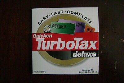 Intuit TurboTax Deluxe 2000 Federal Tax CD for Windows