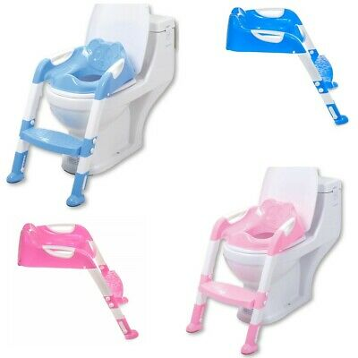 Toddler Toilet Training Potty Seat Step Ladder Child Baby Trainer Blue Pink New