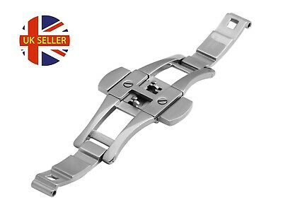 For EMPORIO ARMANI AR1403 AR1415 Steel Silver 22mm Clasp Buckle Watch Strap Band