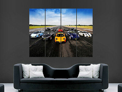 Poster of McLaren MP4-12C Gemballa Racing Giant Race Car Huge Print 54x36 Inches