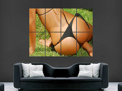 Hot Sexy Girl Thong Bum   Giant Wall Poster  Picture Print Large Huge