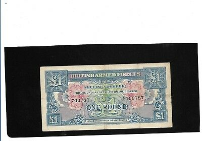 British Armed Forces Special Voucher Banknote 1946 -First Series