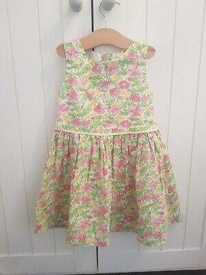 Next ~ Gorgeous Girl's Green, Yellow & Pink Floral Patterned Dress ~ 2-3 Years