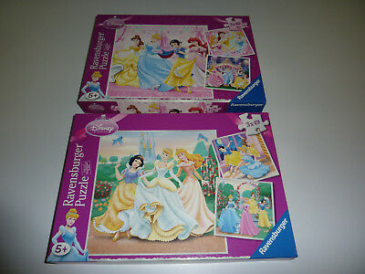 Ravensburger Puzzle Disney Princess 2er Set mit jeweils 3 Puzzlen (49 tlg.)