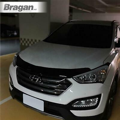 To Fit 2015 - 2019 Hyundai Tucson Smoked Transparent Acrylic Bonnet Guard Shield