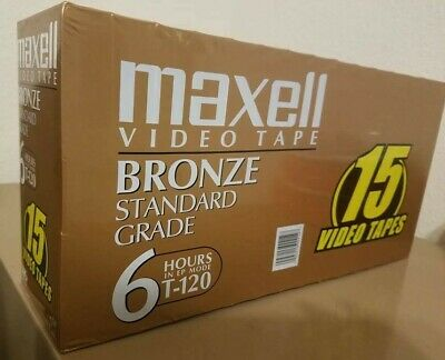 15 Pack Blank Maxwell VHS Video Tapes T-120 BRAND NEW SEALED