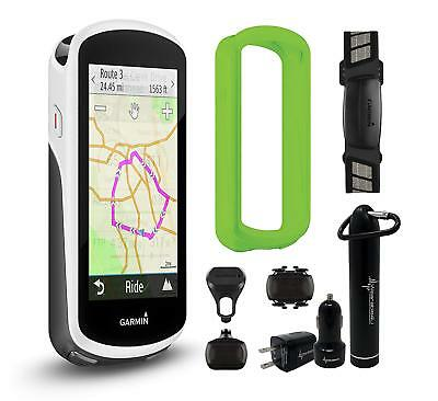 Garmin Edge 1030 GPS Cycling Computer Green Case Wearable4U Bundle 010-01758-01