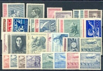 Czechoslovakia CSR,stamps complet year 1946-7**, unused, MNH, perfeckt