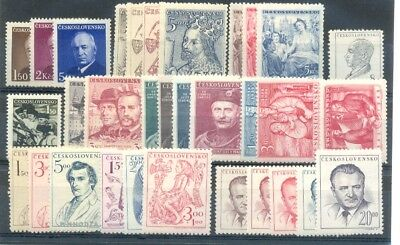 Czechoslovakia CSR,stamps complet year 1948**, unused, MNH, perfeckt
