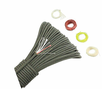 PSKOOK 550 Paracord Survival Fire Parachute Cord Outdoor Military Grade With
