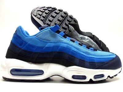 NIKE AIR MAX 95 Black University Blue. New With Box A Little