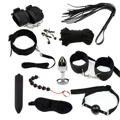4746| Attaches de lit-Kit Bondage Lit-Menottes-Plug Anal-Bâton de massage-plug