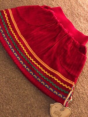 Little Bird By Jools Oliver Red Cord Skirt 18-24 Months
