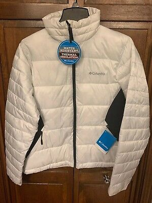 e59a7b8e0 Columbia Women M Isolated Point Puffer Jacket Midweight White XL5974 125  $130