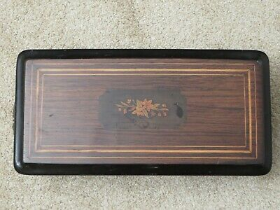 Antique 19th Century Cylinder Music Box with Walnut Case Swiss Made