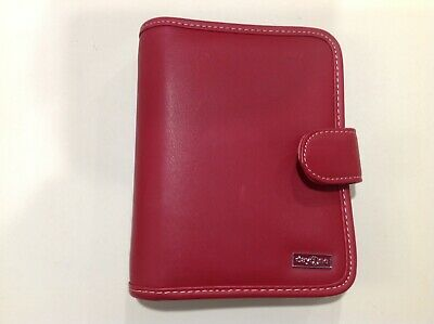 Franklin Covey Day One Planner Binder Organizer Compact Red Faux Leather