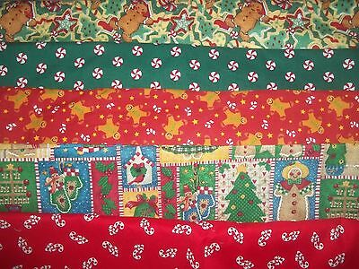 CHRISTMAS gingerbread candy cane BTY Cotton FABRIC U-Pick READ LISTING for INFO