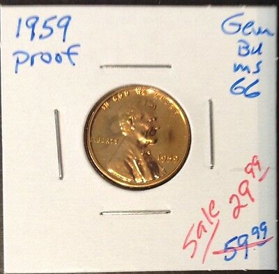 1959 Proof 1C Lincoln Cent