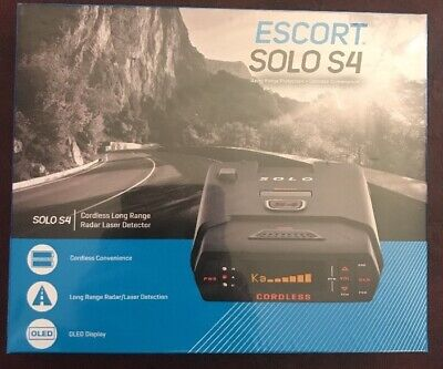 Escort Solo S4 Cordless OLED Display Long Range Laser/Radar Detector