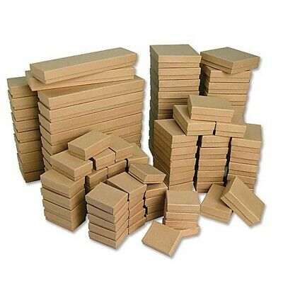 Kraft Cotton Filled Jewelry Boxes  Lots of 25-50-100