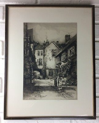 Albany E. Howarth Signed Etching 'Golden Cross, Oxford'