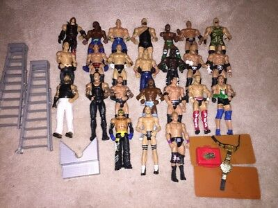 WWE Mattel Lot 3 Of 24 Elite Wrestling Figures, Flashback, Basic, WCW, ECW