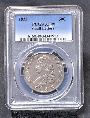 1832 Bust Half Dollar - Small Letters -  PCGS XF40 (#21306)