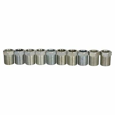 """Steel Male Brake Pipe Union Fittings 3/4"""" x 16 UNF for 1/2"""" Brake Pipe 10pc"""