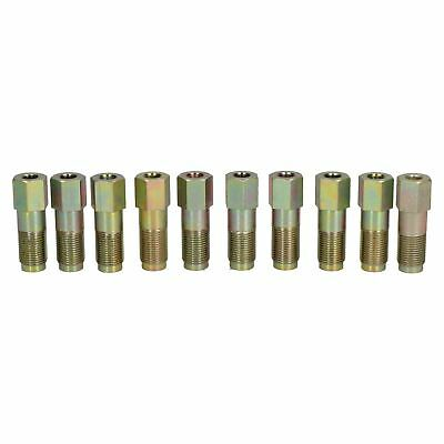 Large Steel Male Brake Pipe Union Fittings 12mm x 1mm for 6mm Brake Pipe 10pc
