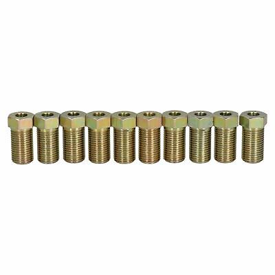 """Steel Male Brake Pipe Union Fittings 10mm x 1mm TTE for 3/16"""" Brake Pipe 10pc"""
