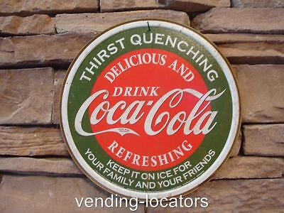 Drink Coca Cola Round Tin Sign Antique Style Retro Ad Coke Soda Pop USA Gift 12""