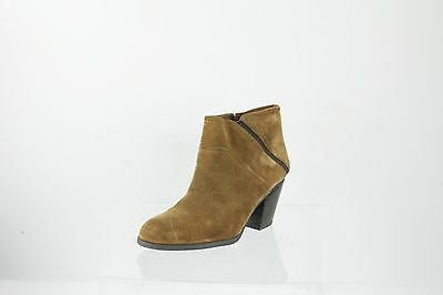 5fc1938df3c WOMEN S FRANCO SARTO Domino Brown Suede Ankle Boots Heels Size 7 M ...