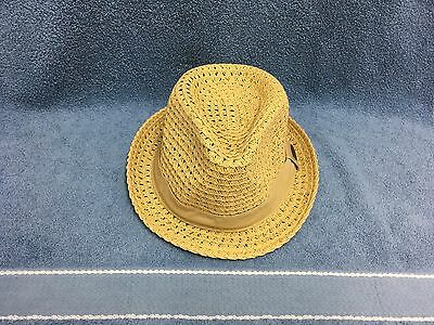 83e3e5db Panama Jack 100% Toyo Straw Fedora Hat Men's Shady Crushable Vented Guc
