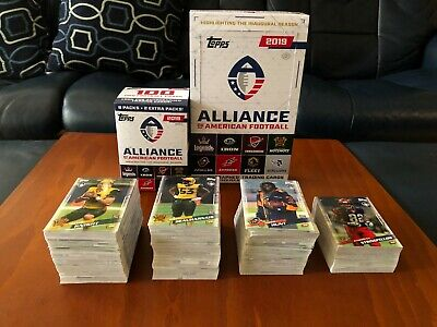 2019 Topps Alliance AAF Football Cards #1-175 (You Pick) Complete Your Set