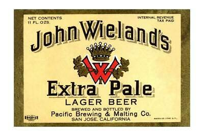 """""""John Wieland's Extra Pale Lager Beer"""" Print [ID 619392]"""